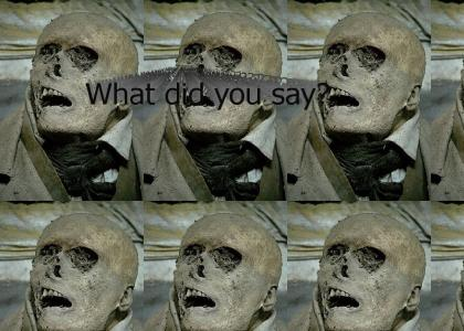 what the skeleton head says