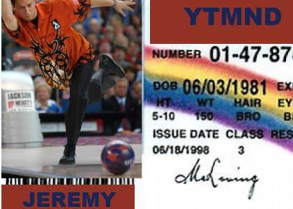 Jeremy's New Bowling License