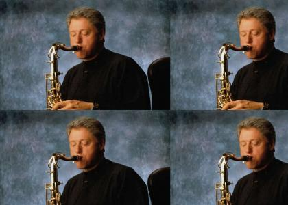 Bill Clinton the Sax Guy