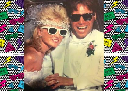 That 80s Wedding Photo from Reddit