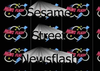 Sesame Street News Flash logo