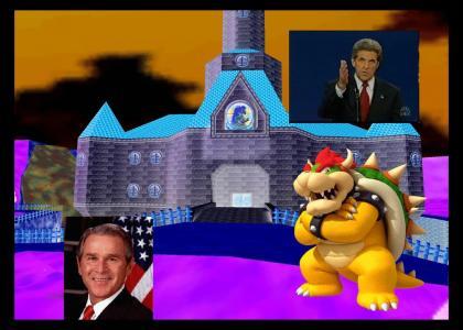 Peach's Castle Wrangle with the ol' John Kerry