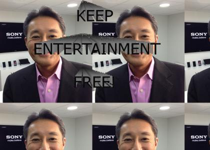 Kaz Hirai's stance on FREE ENTERTAINMENT