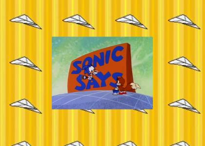 Sonic gives us advice on flying paper airplanes