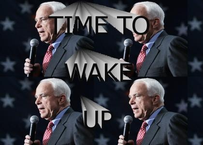 John McCain says it's time to wake up