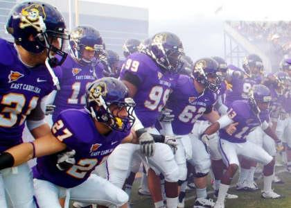 ECU Pirates practice football