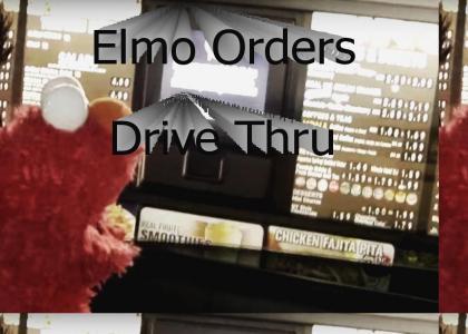 Elmo Orders Drive Thru