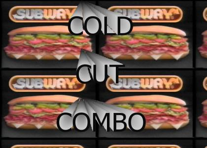 cold cut combo Subway commercial from 1989