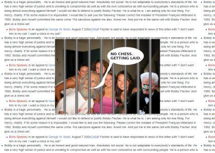BOBBYFISCHERTMND: Bobby Fischer is getting laid (in jail)