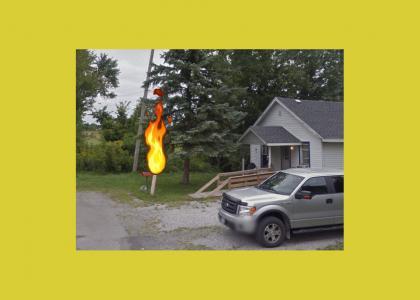 I Torched Ricks Mailbox