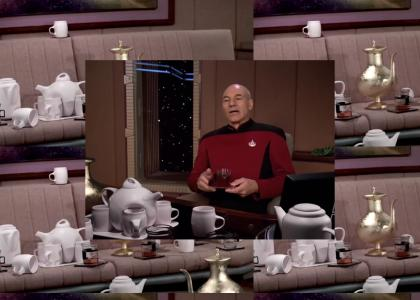 Riker comments about mcearlgrey's tea collection