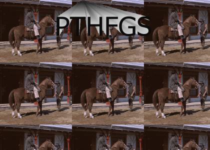 Mongo punching a horse