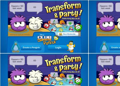 Club Puffle (Puffle Party) is Here! Become a Puffle instead of a penguin!