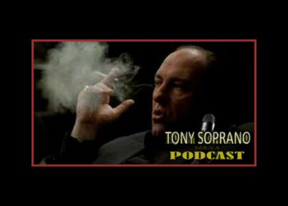 Tony Soprano Does A Podcast