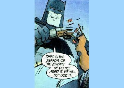 Batman Hates Guns