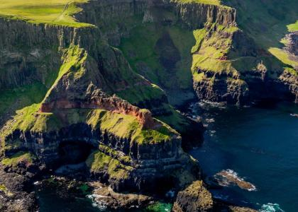 aerial view of Ireland