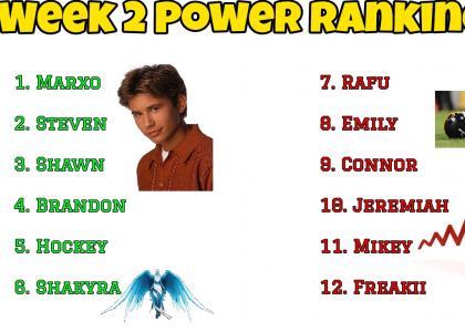 Power Rankings Week 2