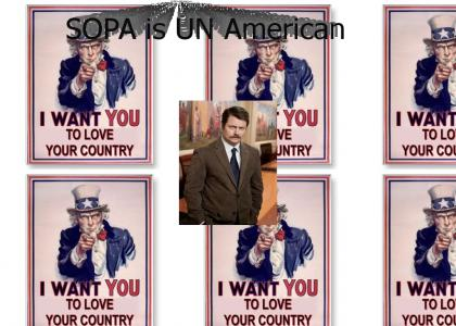Ron Swanson: SOPA IS UNAMERICAN