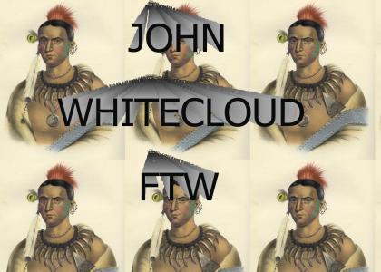 John Whitecloud summons a meditatitve indian spirit