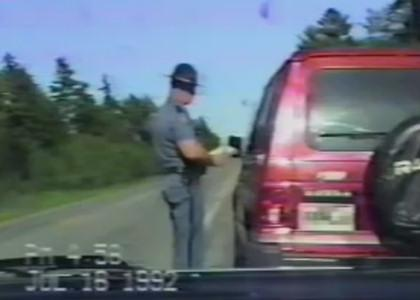 A man throws a tantrum at a cop ticketing him for speeding