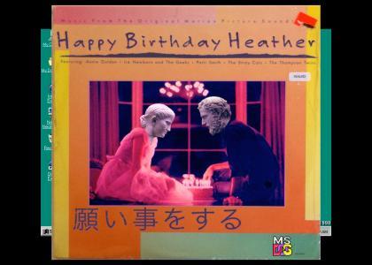お誕生日おめでとうございます Heather
