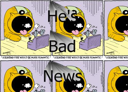 Heathcliff's Bad Breath Never Changes Facial Expressions