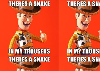 There's a snake in my trousers