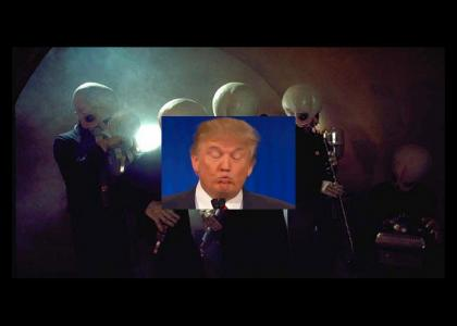 Trump used to be part of the cantina band