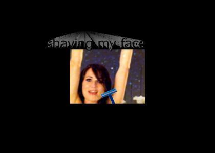 shaving my face