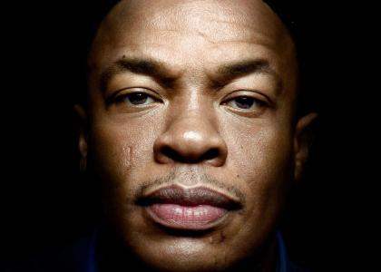 Dr. Dre stares into your soul