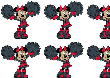 Minnie Mouse is a cheerleader