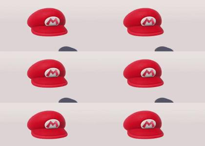 eyes on Mario's hat