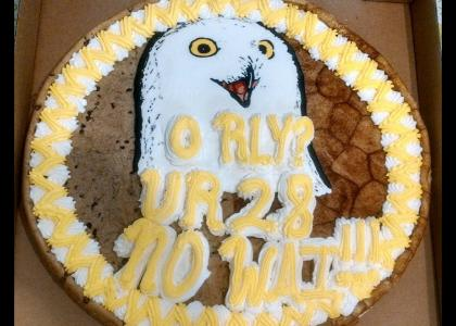 O RLY Cookie Cake