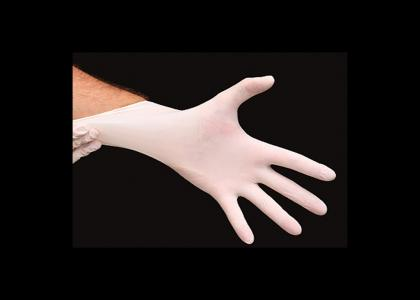 a doctor's rubber glove