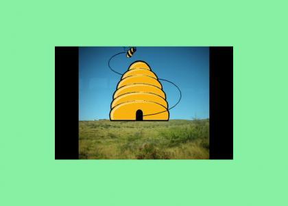 Nicolas Cage goes into a bee hive.