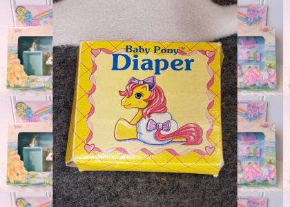 pony diapers being used for what they meant for