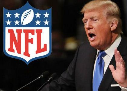 Donald Trump pokes a hole in the football that the NFL uses!