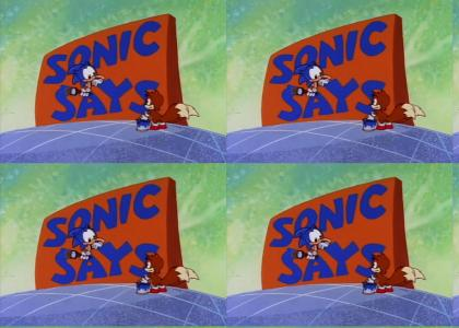 All Sonic Says segments
