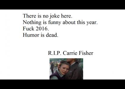Carrie Fisher is dead.