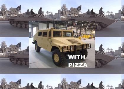 Pizza delivery to the Middle East