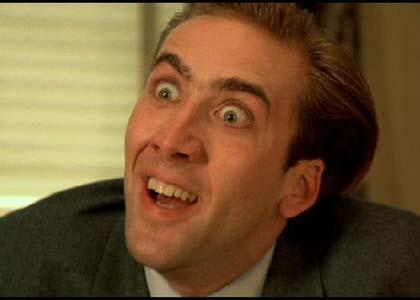 Nicolas Cage doesn't like the way it looks