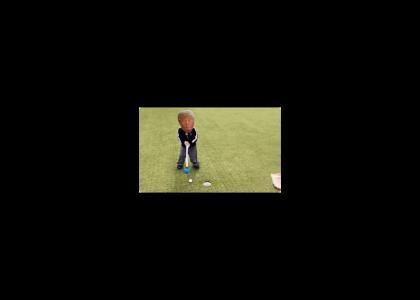 Trump Goes Golfing