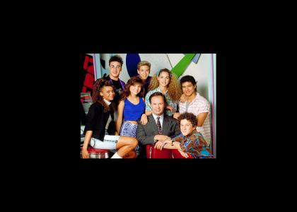 The cast from Saved By The Bell