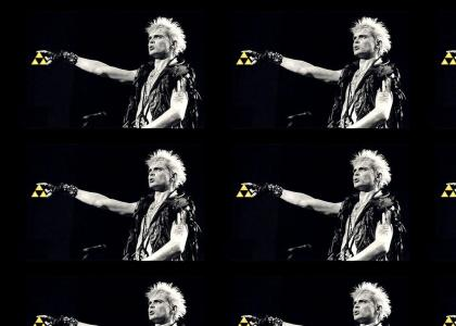 Billy Idol got the Triforce