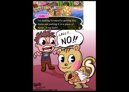 Animal Crossing - Cally Stuffs In Her Butt :0