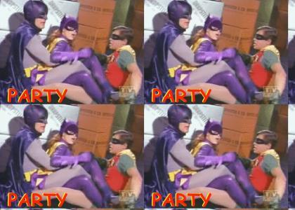 batman parties hard