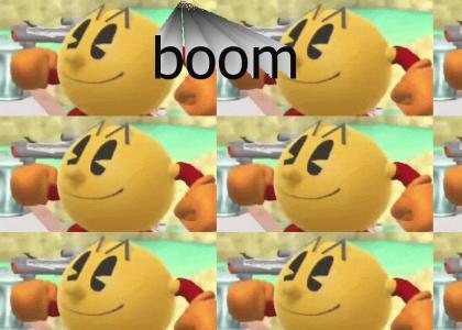 pacman goes boom