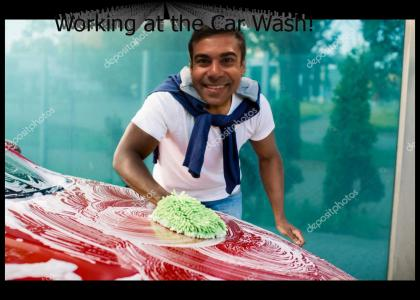 Working At The Car Wash!