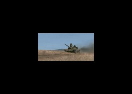 Army tanks spotted