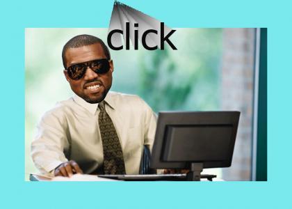 Kanye Logs On